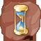 Reloj de arena de oro